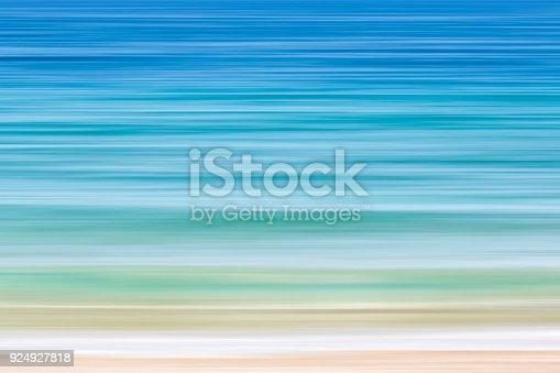 istock Dreamy seascape. Motion blur, vivid colors 924927818