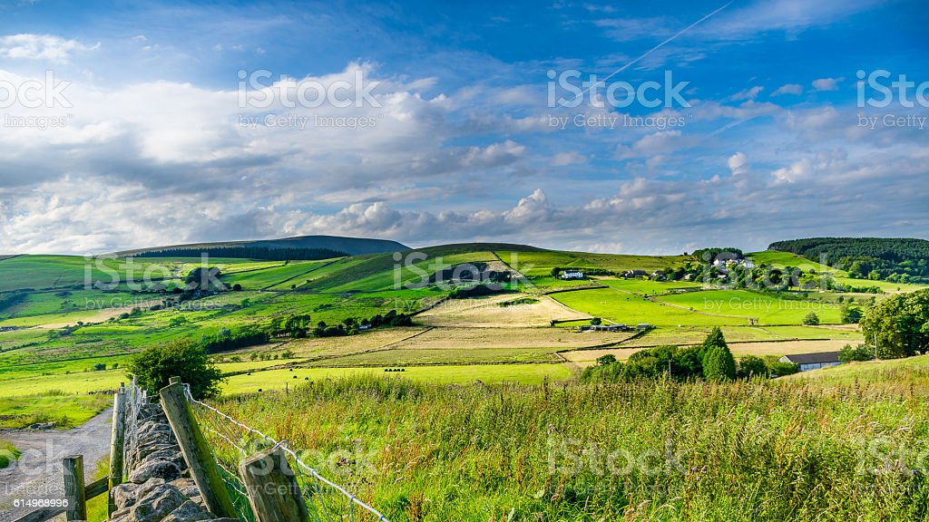 Dreamy Sky Over Pendle Hill stock photo