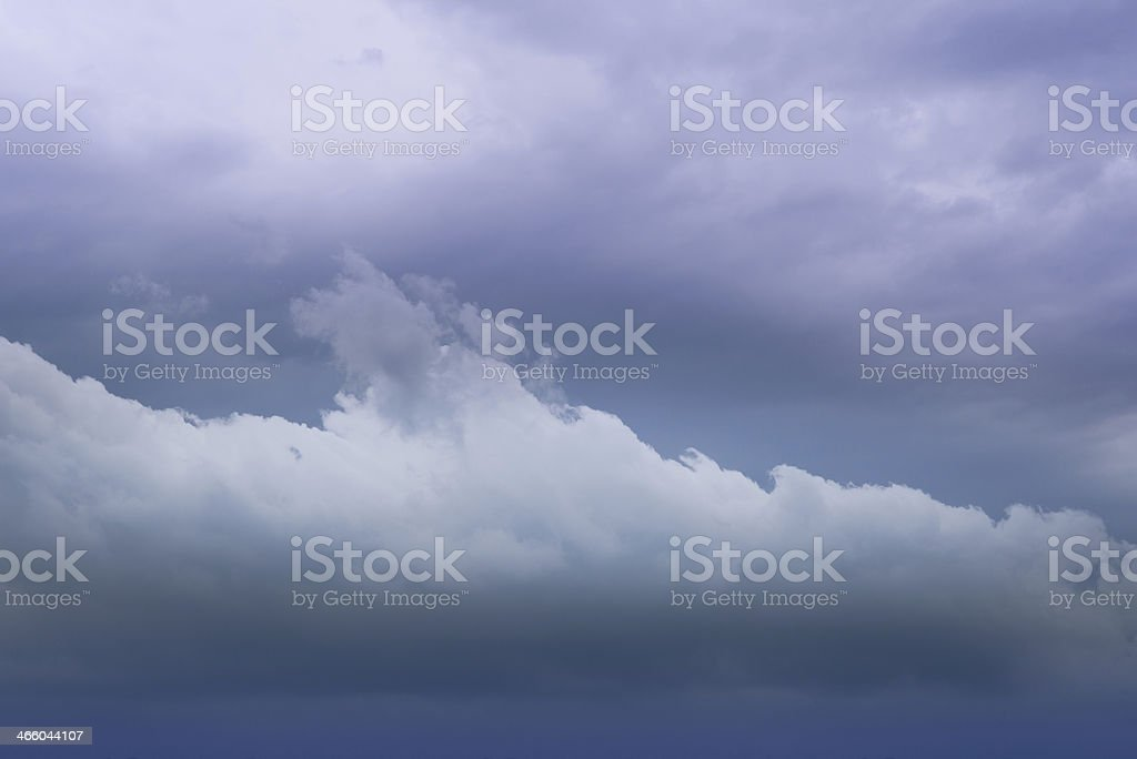 Dreamy sky with stripe cloud. royalty-free stock photo
