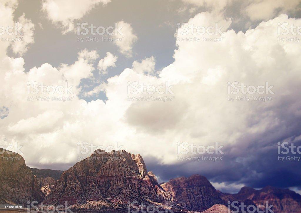 Dreamy Southwestern Desert Mountain Landscape stock photo