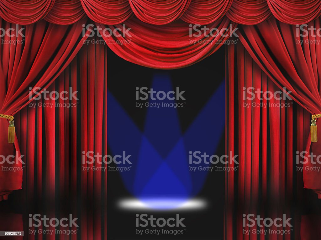 Dreamy Stage With Blue Spotlights royalty-free stock photo