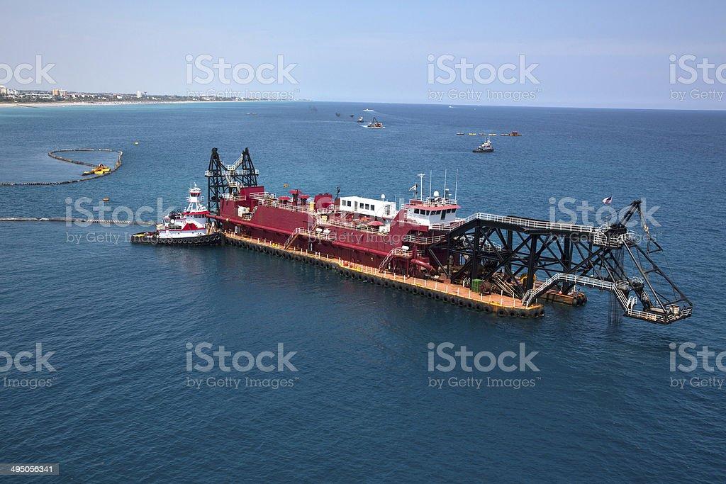 Dredging Barge stock photo