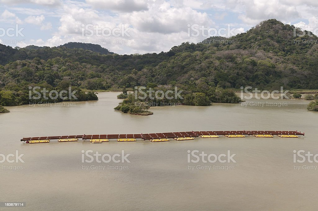 Dredging Pipes Waiting royalty-free stock photo