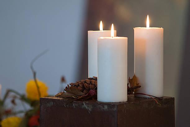 Drei Kerzen – Foto