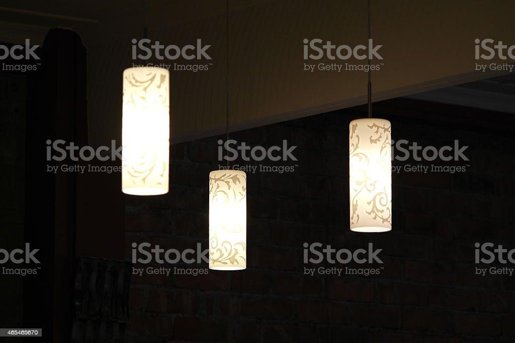 Drei Lampen stock photo