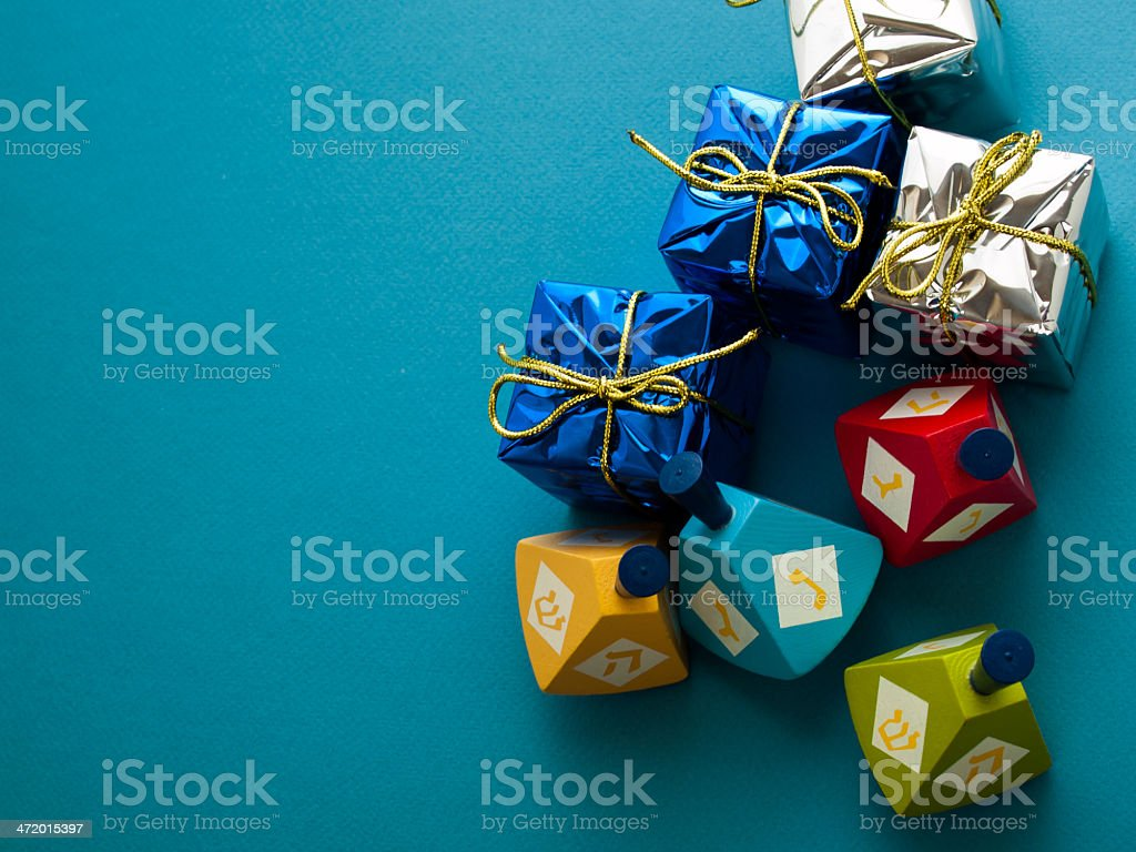 Dreidels stock photo