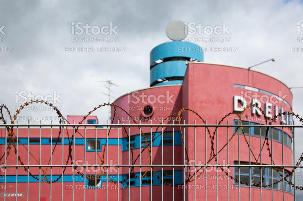Dreilinden at Checkpoint Bravo west Berlin stock photo