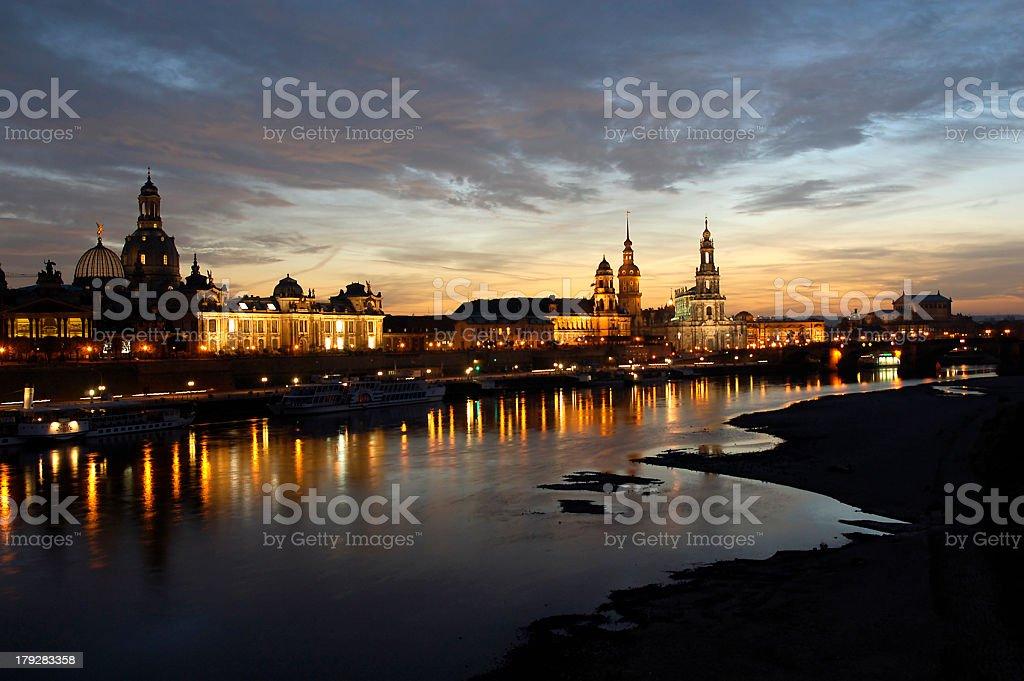Dresden Altstadt Panorama stock photo
