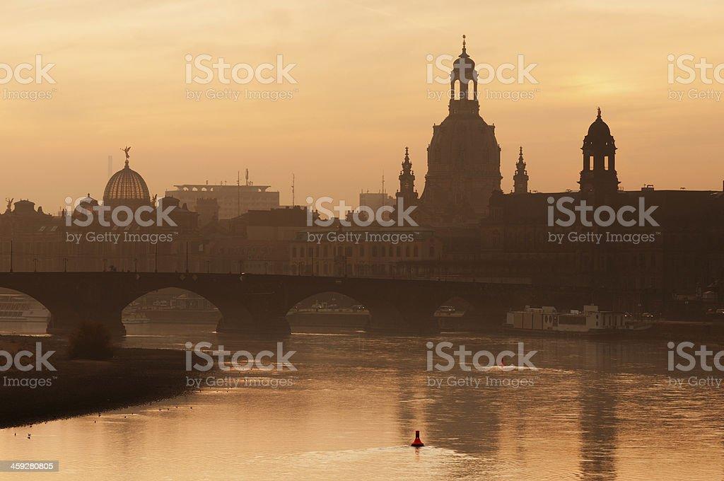 Dresden at Sunrise stock photo