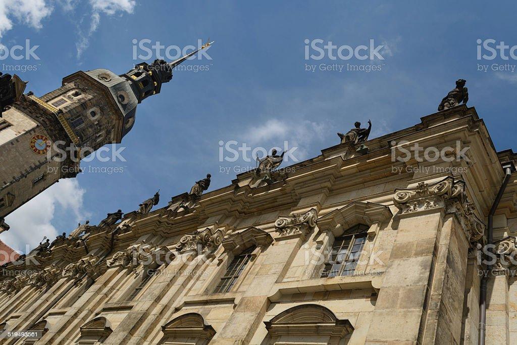 Dresden Igreja Católica foto royalty-free