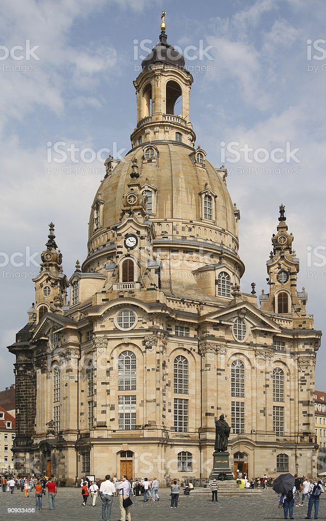 Dresden - Church of our Lady royalty-free stock photo
