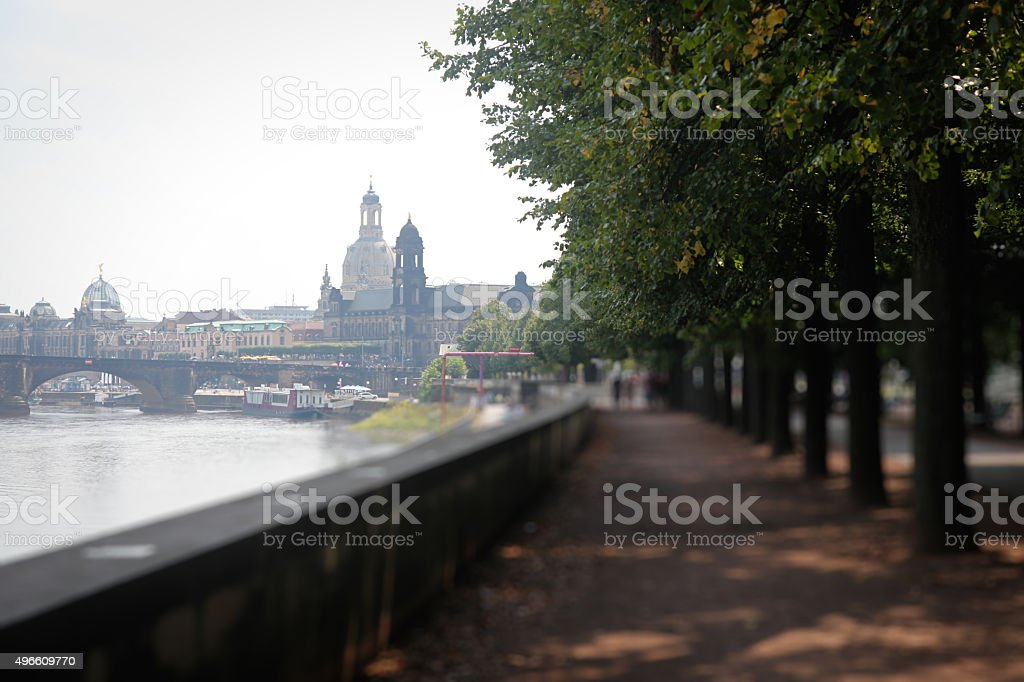 Dresden city center view royalty-free stock photo