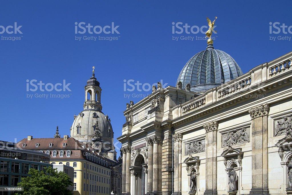 Dresden domes stock photo