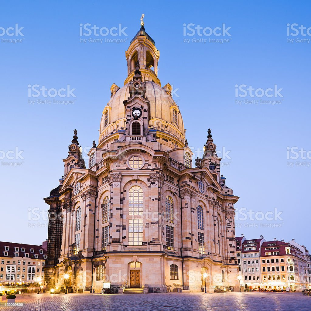 Dresden Frauenkirche Church of Our Lady Saxony Eastern Germany stock photo