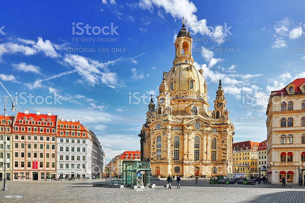 Dresden Frauenkirche . stock photo