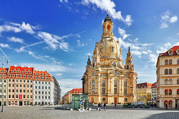 Dresden Frauenkirche . stok fotoğrafı