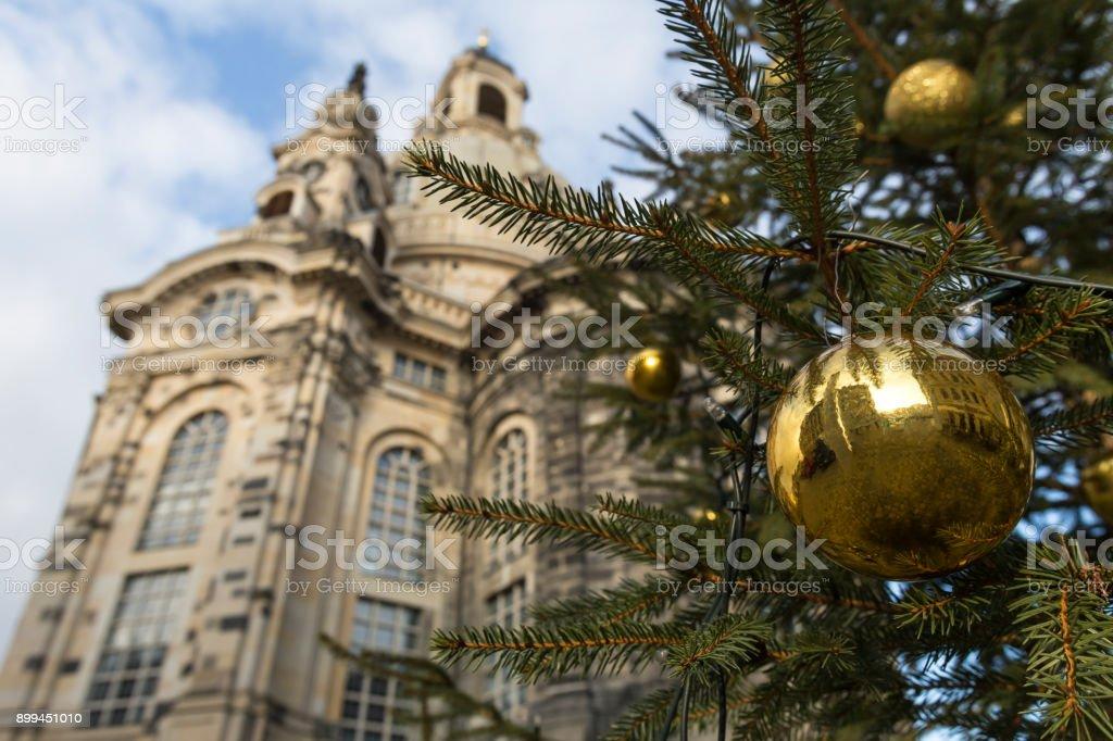Weihnachten Kirche.Dresden Deutschland Frauenkirche Kirche Zu Weihnachten Stockfoto Und