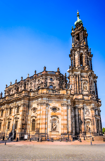 Dresden Germany Hofkirche Stock Photo - Download Image Now