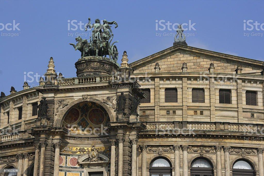 Dresden landmark royalty-free stock photo