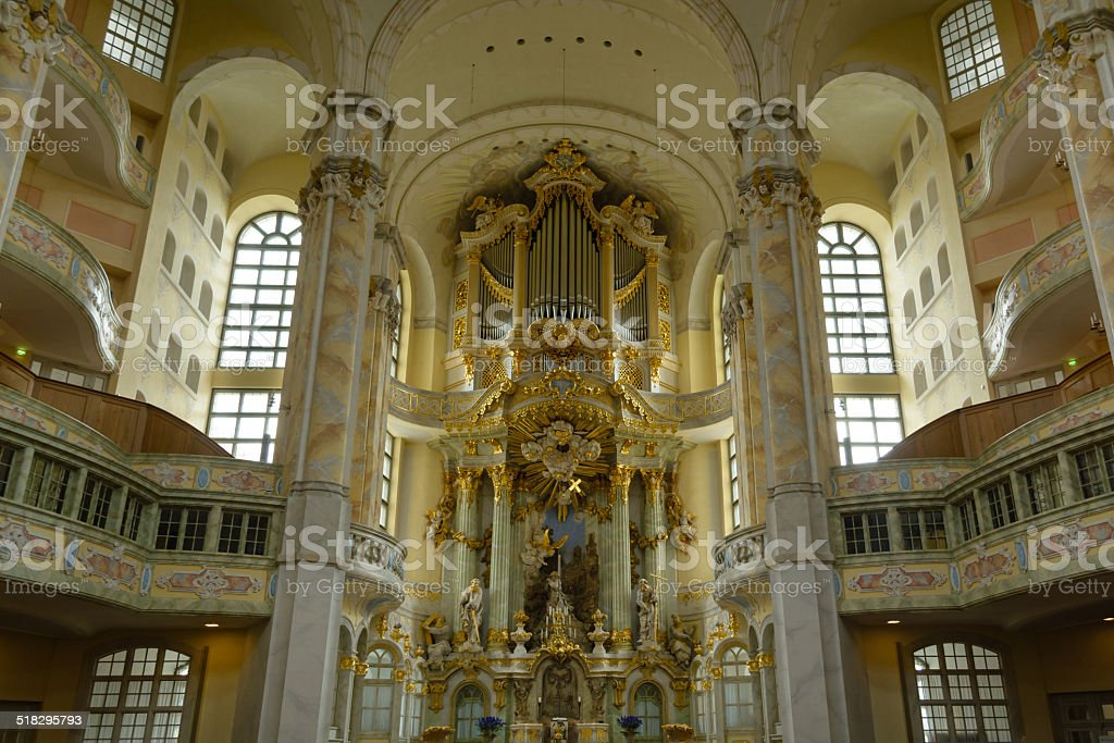 Dresden Igreja Luterana interior foto royalty-free