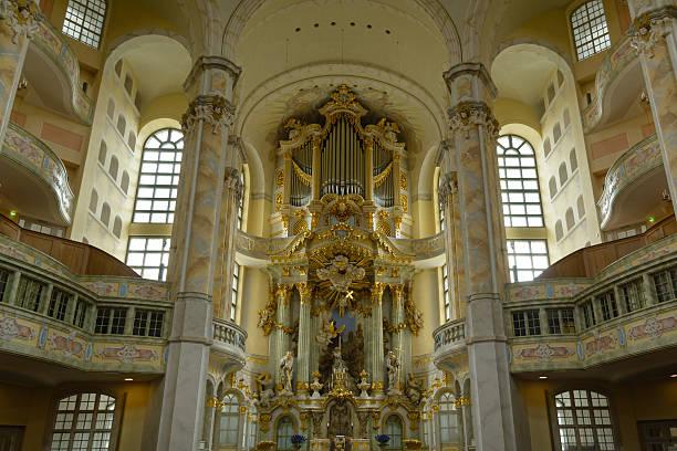 Dresden Igreja Luterana interior - foto de acervo