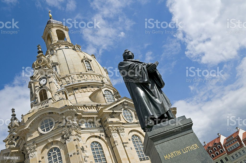 Dresden, Martin Luther Statue stock photo