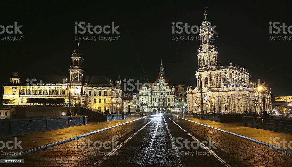 Dresden night royalty-free stock photo