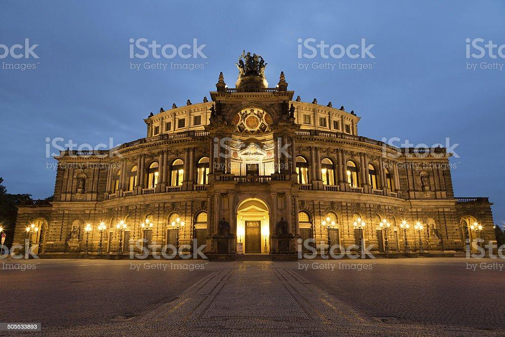 Dresden Opera House stock photo