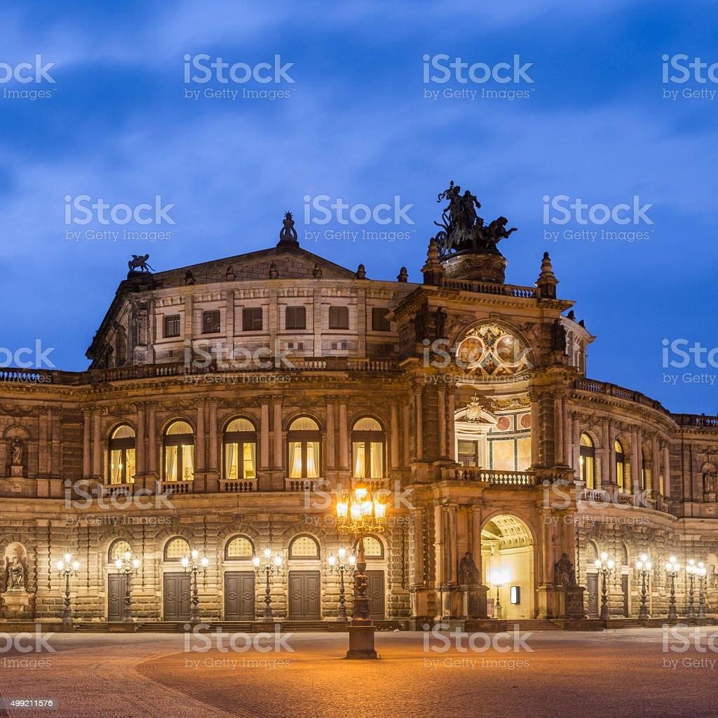 Dresden Semper Oper stock photo