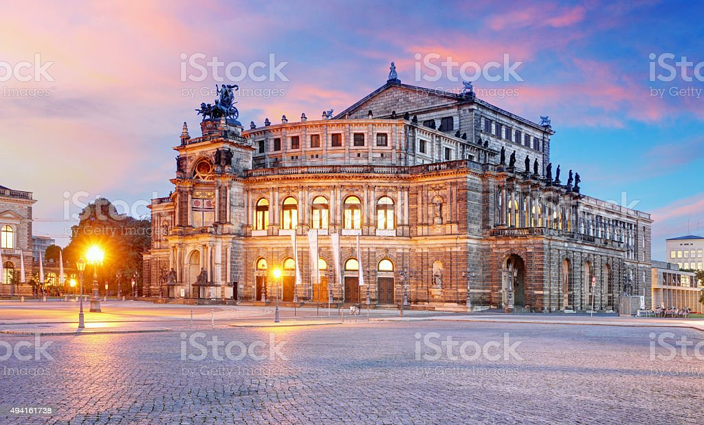 Dresden - Semperoper stock photo