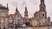 Catholic Hofkirche, Hausmannsturm, Dresden Castle - Saxony, Germany