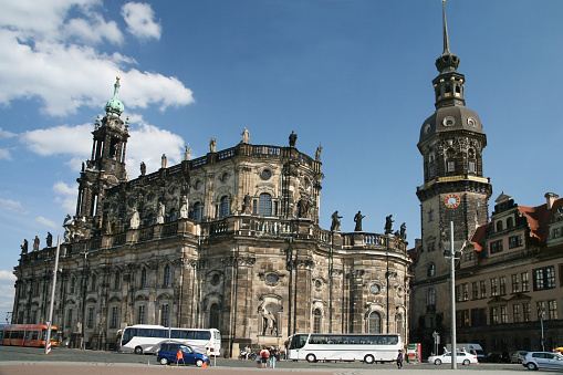 Dresden town center with Residenzschloss (Dresden Castle)