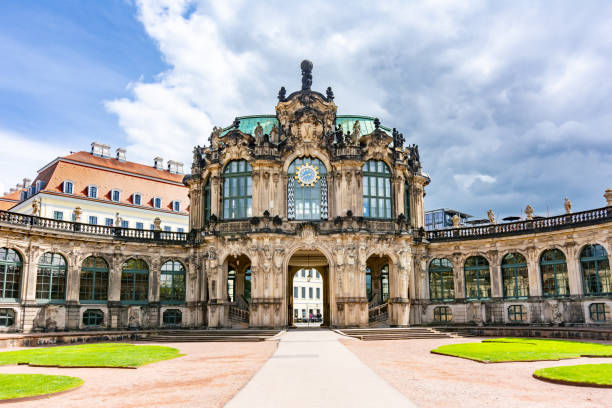 Dresdner Zwinger in Dresden, Germany Dresden, Germany - May 2019: Dresdner Zwinger in Dresden on a sunny day zwanger stock pictures, royalty-free photos & images