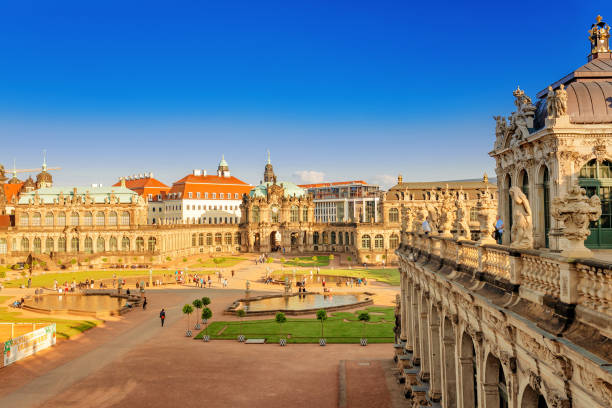 Dresden Zwinger palace is a popular travel destination in Saxony and Germany Dresden, Germany, 20 May 2018: Dresden Zwinger palace is a popular travel destination in Saxony and Germany zwanger stock pictures, royalty-free photos & images