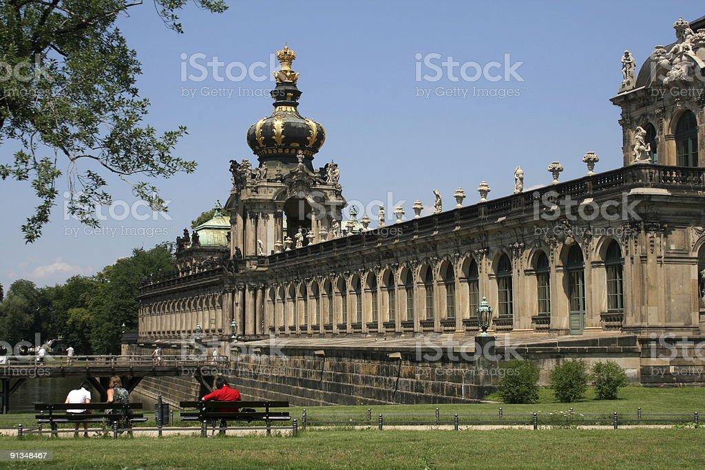 Dresden Zwinger Palace Kronentor stock photo