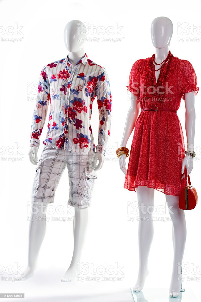 0691041e7df8 Dress And Shirt On Mannequins Stock Photo   More Pictures of Adult ...