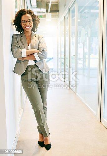 Portrait of a beautiful businesswoman in a office