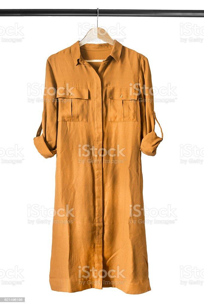 Kleid auf der Kleiderstange Lizenzfreies stock-foto