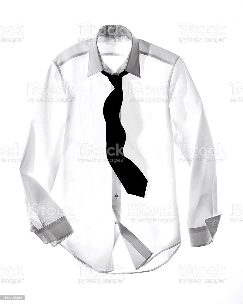 Dress shirt and Tie royalty-free stock photo