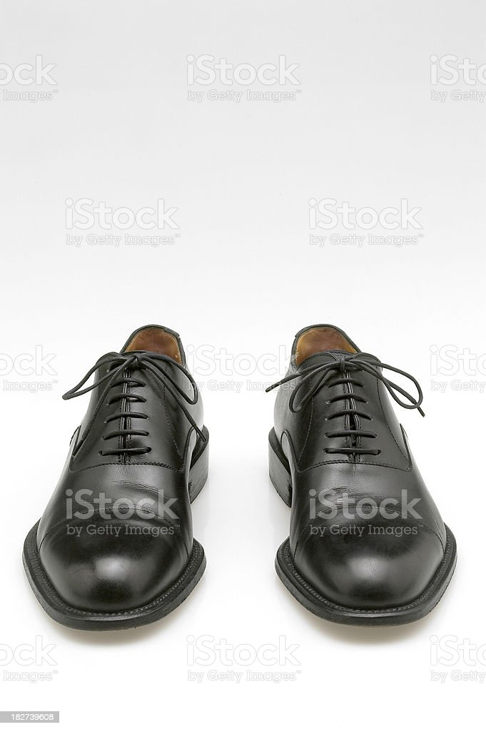 dress shoes on a white background stock photo