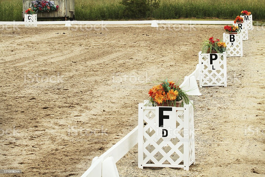 Dressage Show Ring royalty-free stock photo