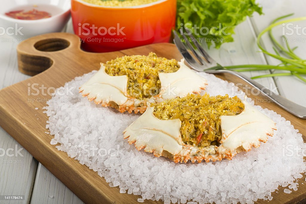 Dressed Crab / Casquinha de Siri stock photo
