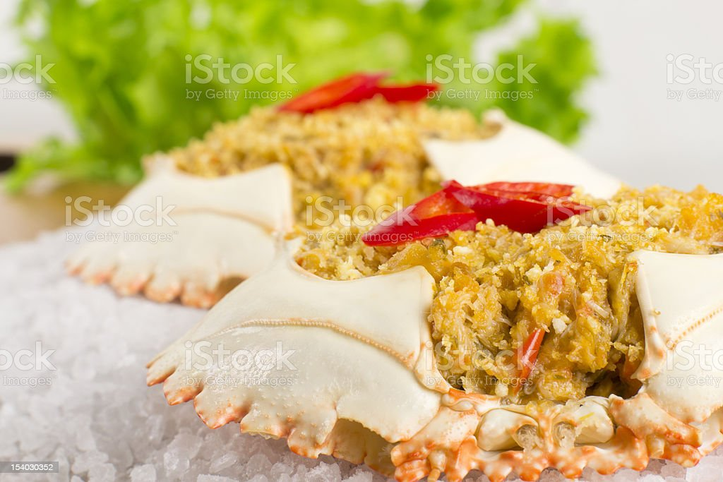 Dressed Crab / Casquinha de Siri royalty-free stock photo