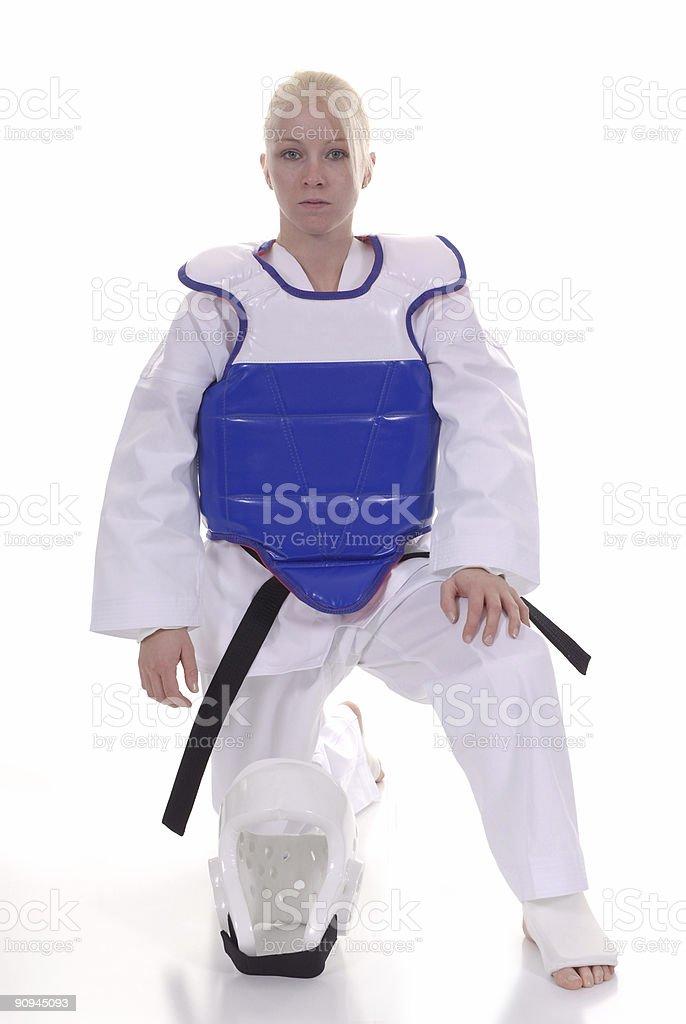 Dressed for combat stock photo