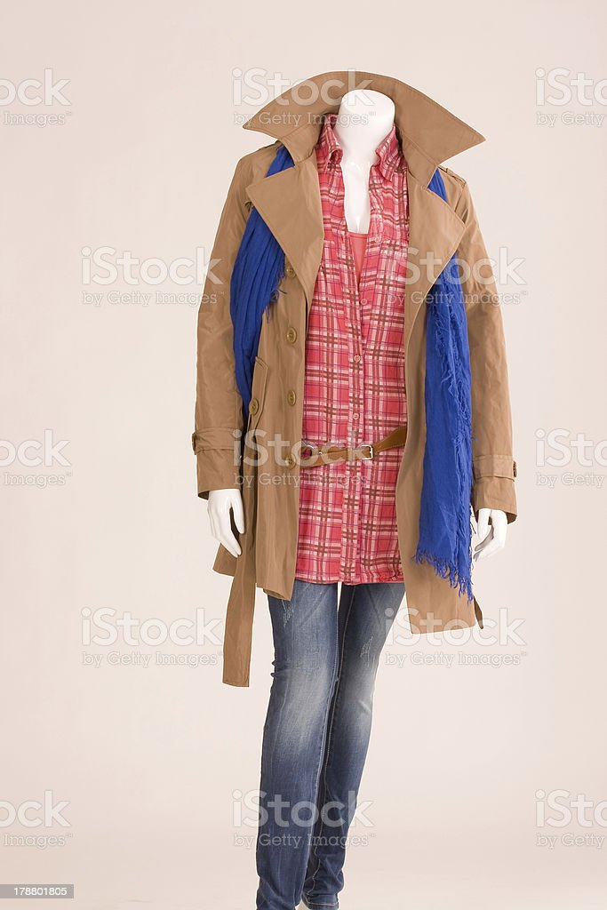 dressed mannequin with spring fashion royalty-free stock photo
