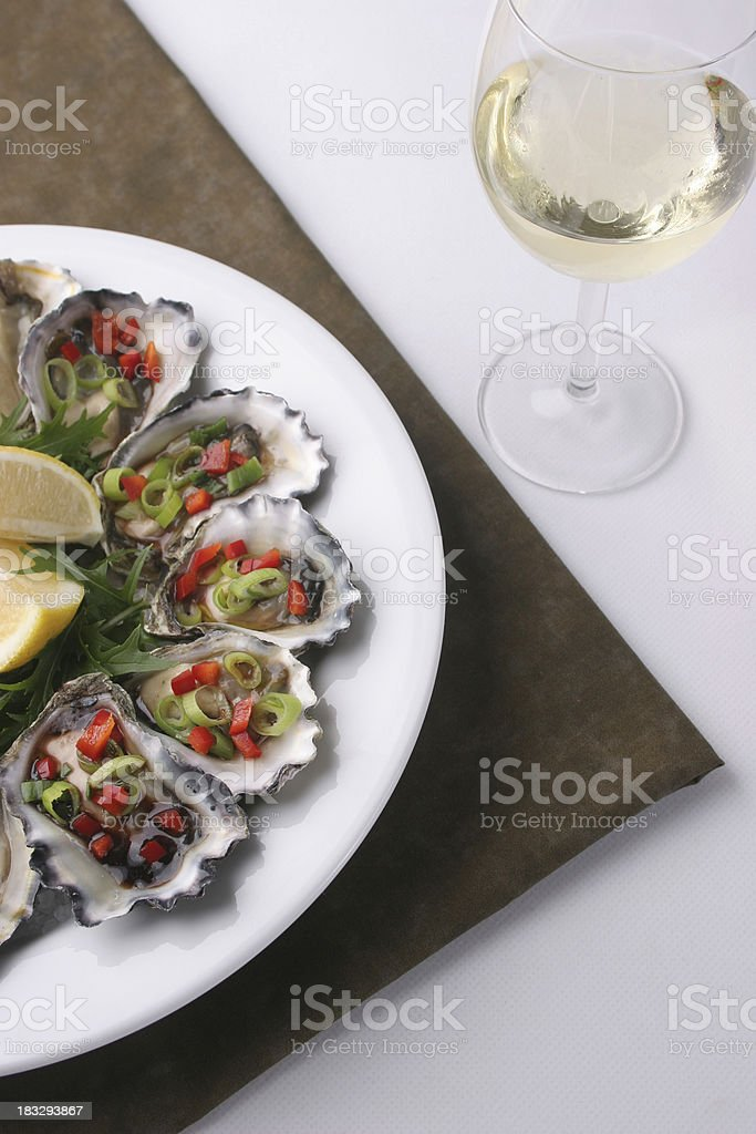 Dressed Oysters royalty-free stock photo