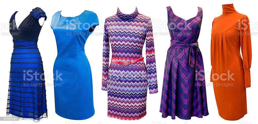 dresses for women set royalty-free stock photo