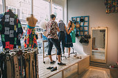 istock Dressing a Mannequin in a Shop Window 823469978