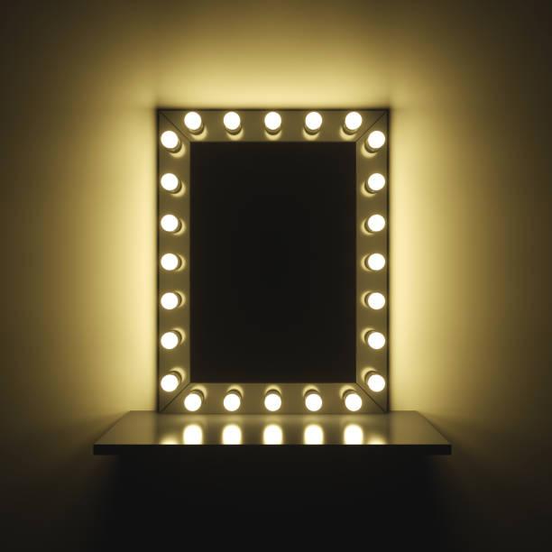habillage et maquillage miroir table - miroir photos et images de collection