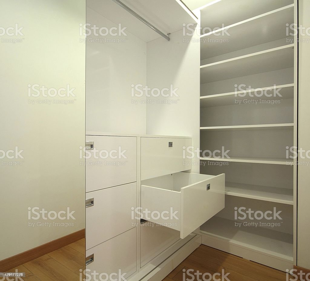Dressing Room and wardrobe stock photo